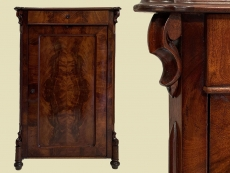Schmales Antik Louis Philippe Mahagoni Kommode Vertiko von 1870