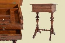 Perfekter Antiker Gründerzeit Beistell Tisch Nähtisch von 1880