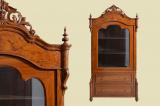 Antike Louis Philippe Bücherschrank Schrank Vitrine von 1860