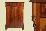 Antik Louis Philippe Mahagoni Schrank Kommode Vertiko von 1870