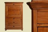 Antiker Weichholz Kleiderschrank Schrank Blender von 1840