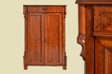 Antik Louis Philippe Birke Schrank Kommode Vertiko von 1870