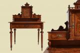 Edler Antik Gründerzeit Schreibtisch Damenschreibtisch Sekretär von 1880