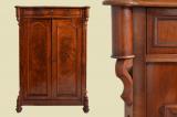 Antique Louis Philippe mahogany cabinet dresser Vertiko from 1870