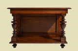 Antique Wilhelminian style walnut side table mirror console from 1880