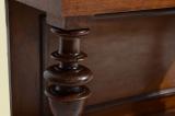 Antik Gründerzeit Nußbaum Beistelltisch Spiegel Konsole von 1880