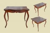 Kleiner Antiker LP Mahagoni Beistelltisch Spieltisch Tisch von 1860