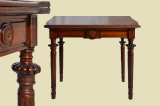 Antique Wilhelminian style walnut side table game table from 1880