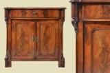 Antike Louis Philippe Mahagoni Halbschrank Kommode von 1870