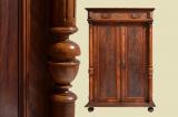 Antikes Gründerzeit Schrank Kommode Säulen Vertiko von 1880