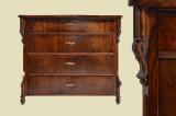 Antike Louis Philippe Nußbaum Herrenkommode Kommode von 1870