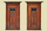 2 Antike Jugendstil Nußbaum Halbschrank Kommode Nachtische von 1920