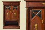 Antiker Jugendstil Mahagoni Vertiko Kabinettschrank von 1920