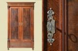 Großer Antiker Gründerzeit Weichholz Steck Kleiderschrank von 1880