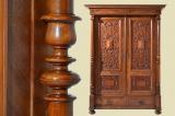 Großer Antiker Gründerzeit Nußbaum Kleiderschrank Schrank von 1880