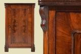 Antike Louis Philippe Mahagoni Schrank Vertiko Kommode von 1870
