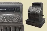 Antike Jugendstil NATIONAL Kasse von 1905 - funktionstüchtig