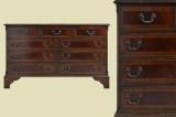 Englisches Victorianisches Regency Mahagoni Kommode Sideboard