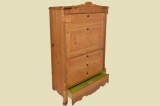 Antiker Biedermeier Weichholz Kleiderschrank Blender von 1830