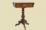 Antiker Gründerzeit Nußbaum Beistelltisch Tisch Nähtisch von 1880