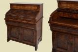 Antique Louis Philippe mahogany desk shutter secretary from 1860
