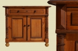 Antique Wilhelminian softwood half cabinet dresser from 1880