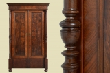 Antique Gründerzeit walnut pillars wardrobe from 1880