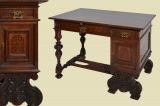 Compact antique Wilhelminian ladies desk secretary desk from 1880