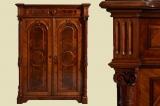 Antikes Gründerzeit Mahagoni Schrank Vertiko mit Säulen von 1880