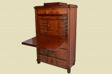 Antiker Louis Philippe Mahagoni Schreibtisch Sekretär von 1860
