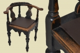 Antique Gründerzeit captains chair corner chair office chair from 1880