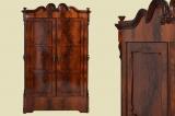 Antik handpoliert Louis Philippe Mahagoni Kleiderschrank von 1870