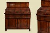Antik Louis Philippe Mahagoni Schreibtisch Rolladensekretär Sekretär von 1860