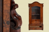Antique Louis Philippe mahogany bookcase cabinet display case 1840