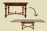 Antique Wilhelminian style extending table dining table setting table table from 1880