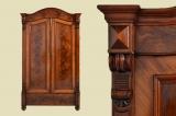 Antiker Louis Philippe Mahagoni Wäsche Kleider Schrank von 1870