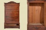 Antik Mahagoni Kleiderschrank Wäscheschrank Blender von 1870