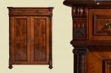 Antik Gründerzeit Nußbaum Säulen Kommode Vertiko von 1880