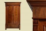 Antik Gründerzeit Nußbaum Kleiderschrank Schrank von 1880