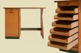 Antiker 20er Jahre Art Deco Rolladen Schreibtisch von 1920