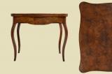 -RESERVIERT- Antiker Louis Philippe Nußbaum Beistelltisch Spieltisch Tisch von 1860