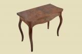 Antiker Louis Philippe Nußbaum Beistelltisch Spieltisch Tisch von 1860