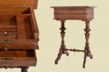 Perfect antique Wilhelminian style side table sewing table from 1880