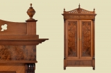 TOP antique hand-polished Wilhelminian style wardrobe from 1880