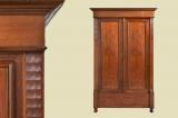 Antique Art Nouveau mahogany wardrobe cupboard from 1920