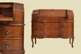 Antik Englischer Empire Mahagoni Intarsien Schreibtisch Sekretär