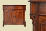 Antique Louis Philippe mahogany half cabinet chest of drawers from 1870