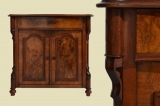 Antike Louis Philippe Nußbaum Halbschrank Kommode von 1870