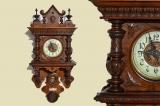 Antik Gründerzeit DR Nussbaum cantilever clock from 1880