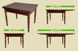 Antique Art Nouveau extending table dining table desk table from 1920